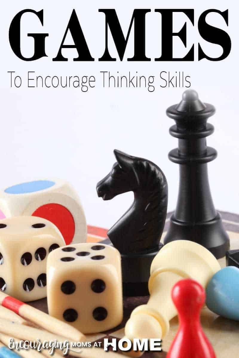 Does your family love to play games? Did you ever consider that games can promote learning? Here is a great list of games that encourage thinking skills.