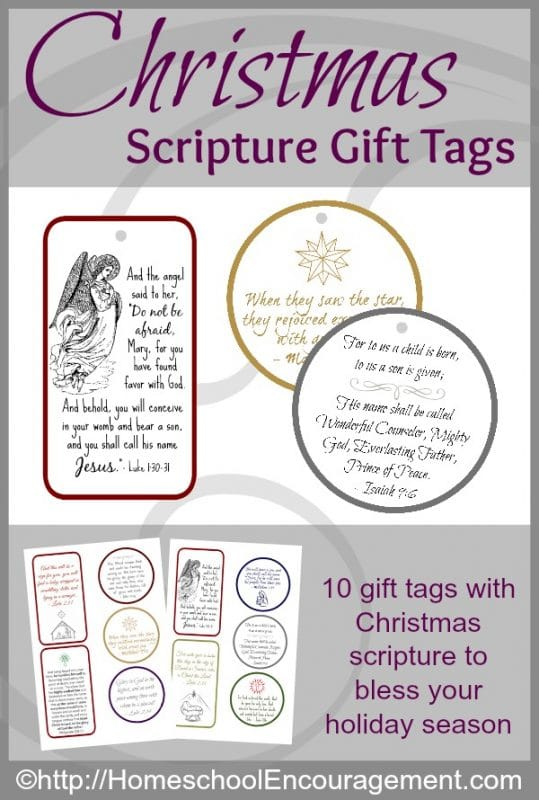 Giving gifts can help us focus on Christ, not only in what we give, but in how we give it. Using gift tags with scripture on them is a sweet way to bless your friends and family this Christmas.