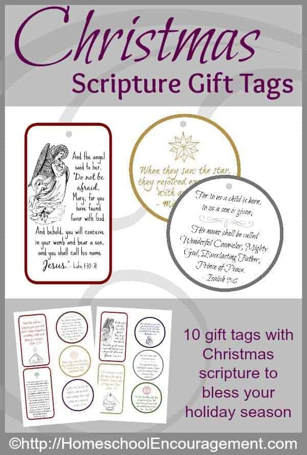 FREE Christmas Scripture Gift Tags