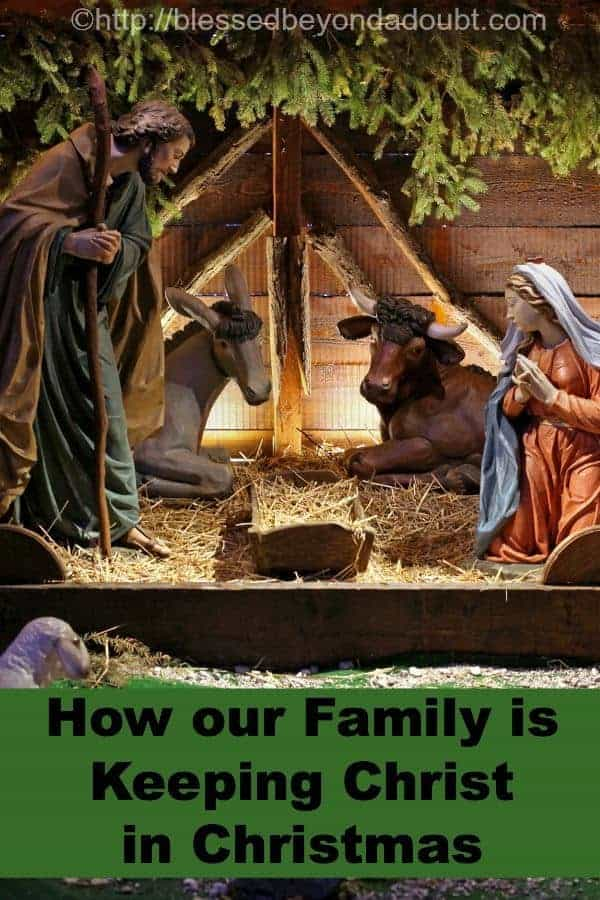 Keeping Christ in Christmas - our family's journey towards a more Christ-centered celebration of His birth.