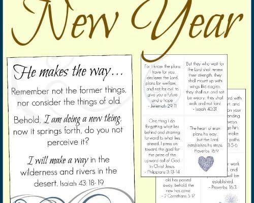 Encouraging Scripture for the New Year (Free Printables!)