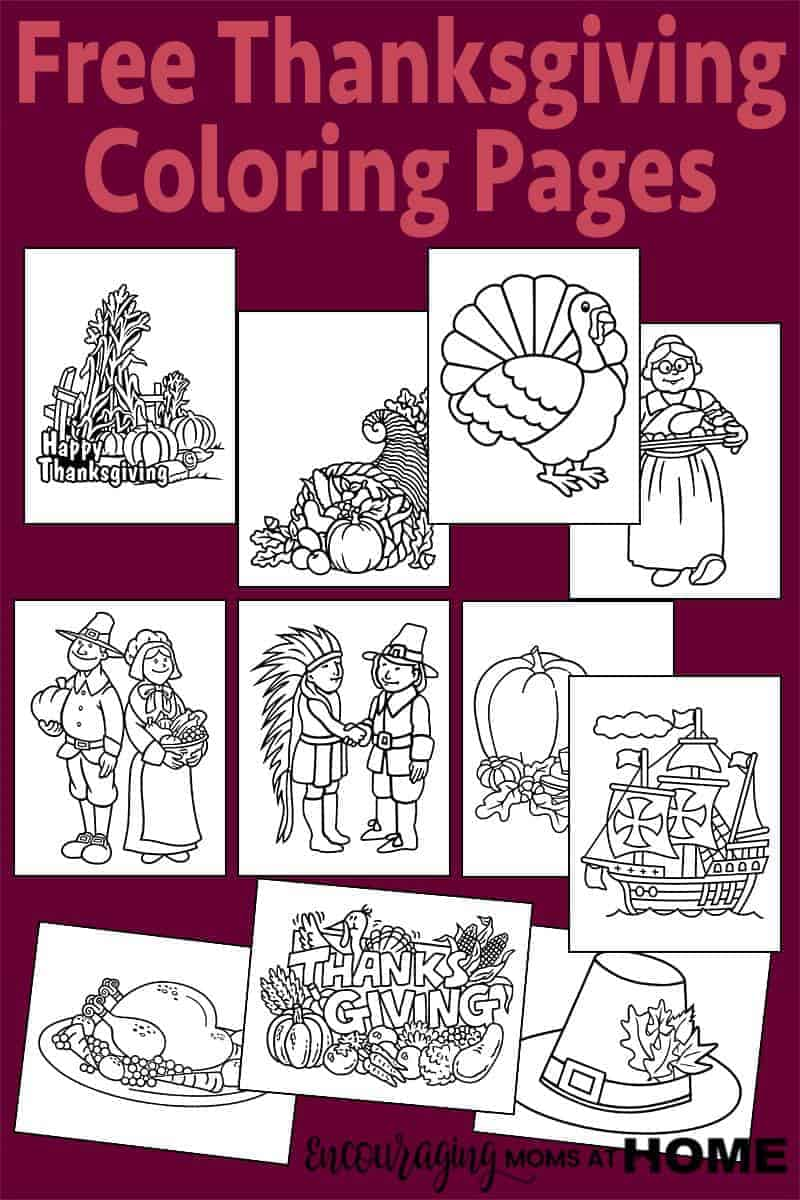 Looking to add a little fun to your Thanksgiving study in your homeschool this holiday? Here are 11 FREE coloring pages to help you out.
