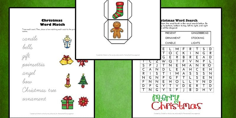 Free Christmas Printable Pack for Grades 1-3