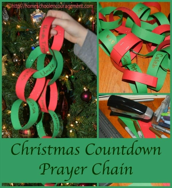 Christmas Countdown Chain for Praying together.