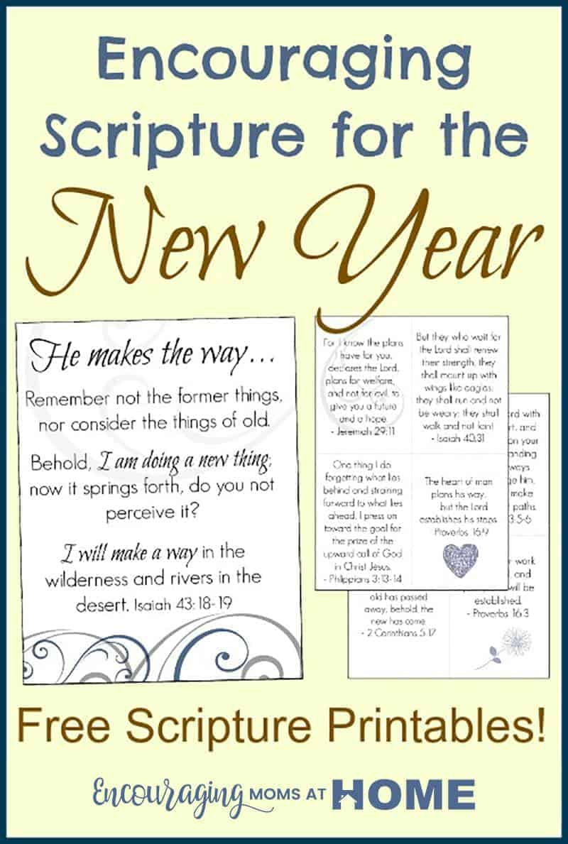 Free Scripture Cards - New Years