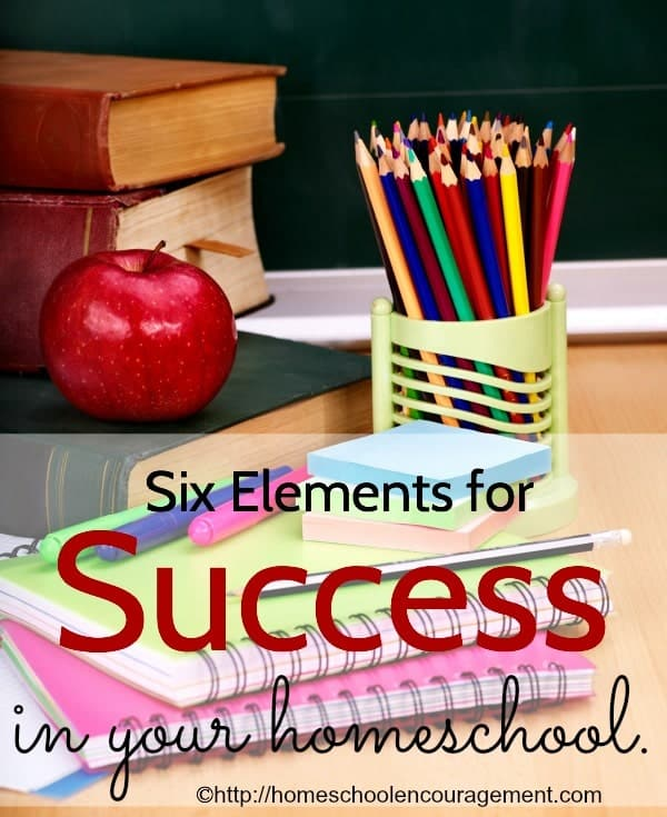 As homescholing moms, we have the desire to be successful in our endeavors to teach our kids and prepare them for life. In order to achieve that, there are some things that are needed. Here are six elements that can help you to have a successfull homeschool.