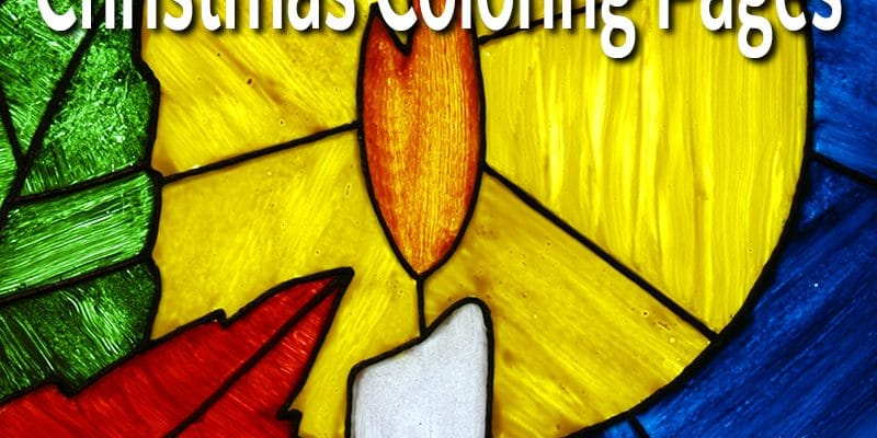 Free Stained Glass Christmas Coloring Pages