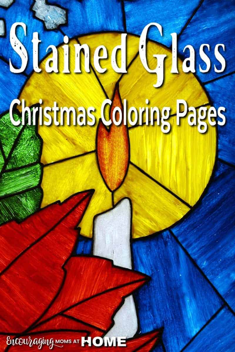 download your free christmas stained glass coloring pages here
