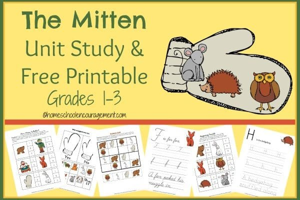The Mitten Unit Study and Printable