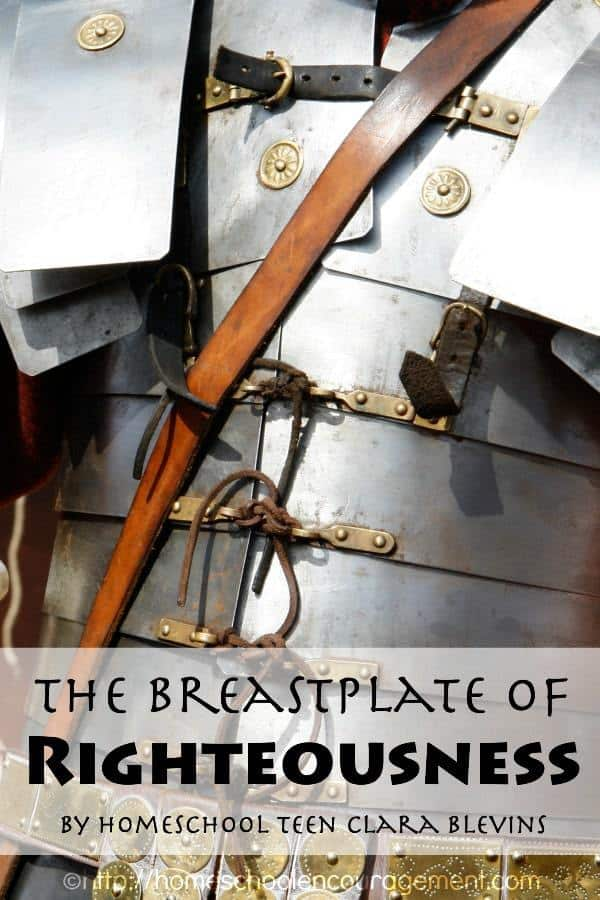 What does the Breastplate have to do with the Armor of God? Teen writer Clara Blevins considers the Breastplate of Righteousness and just how vital it was to a suit of armor.