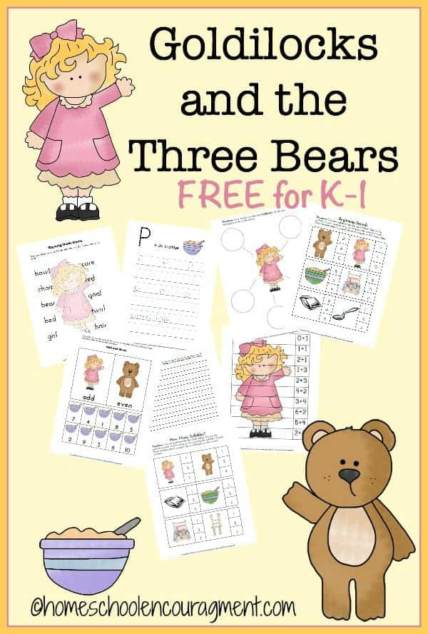 Goldilocks Three Bears Free Printable on Goldilocks And Three Bears