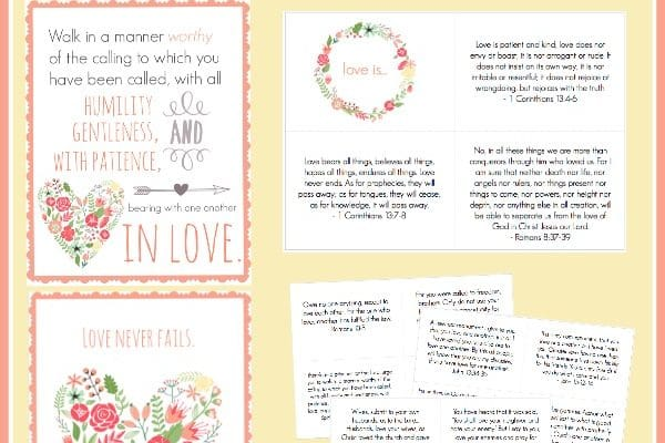Love FREE Scripture Cards and Printables