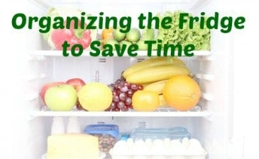 Organizing the Fridge to Save Time