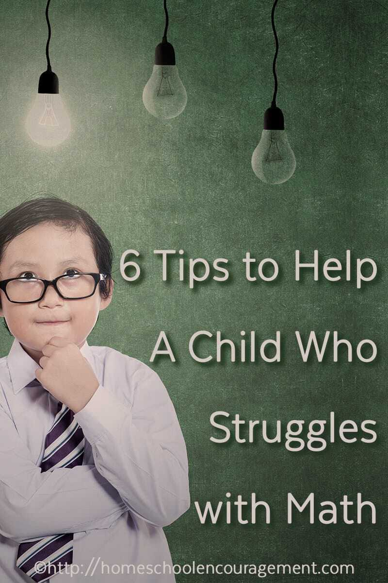 Do you have a child who struggles with math, needs extra help, and just doesn't get math?  Take a look at our 6 tips to help them learn their facts, operations, and more that will give them success with math.