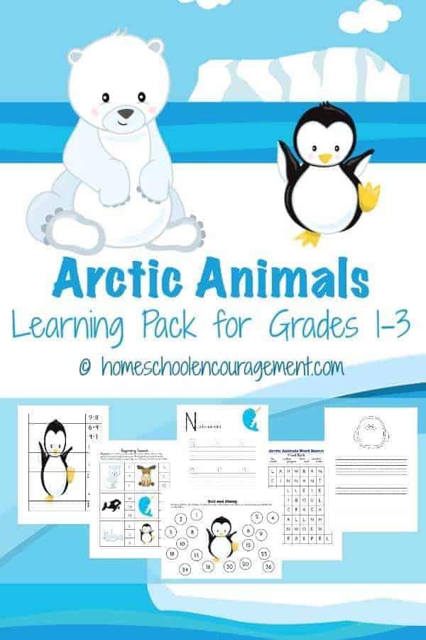 The winter months are a perfect time to study arctic animals. Take a look at our FREE printable pack with for science, reading, and more to help learn about the Arctic