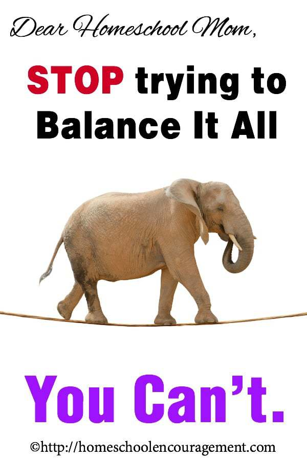 Too much on your plate? Balancing it all is not the goal. Take a look at what a few suggestions for helping you to balance things while also putting the most important things first.