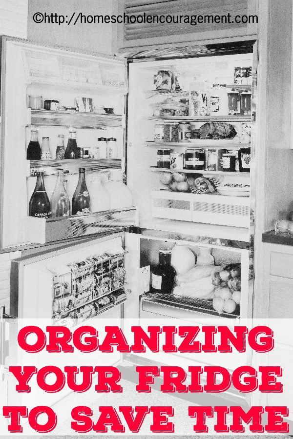 Did you know that an organized fridge can save time in your homeschool day? Take a look at our tips for saving time by keeping your fridge clean and organized.