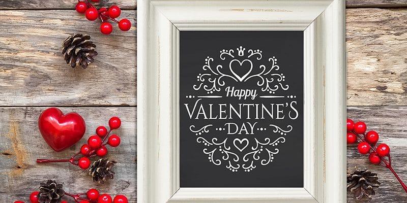 Free Chalkboard Printable: Happy Valentine's Day Printables