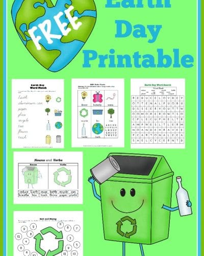 Earth Day Printable 400x500