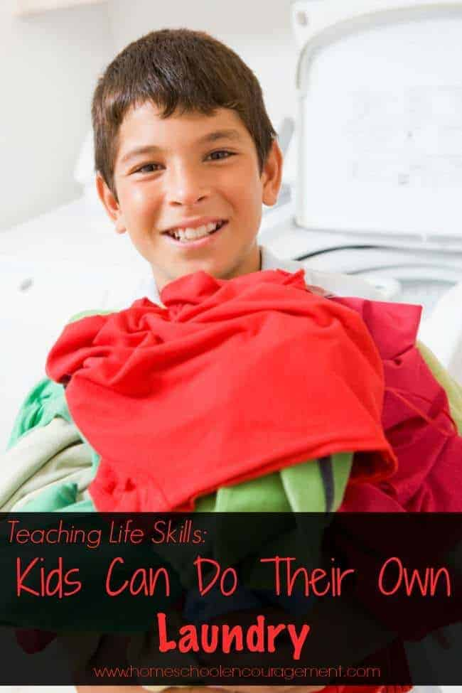 Teaching Life Skills: Kids Can Do Their Own Laundry