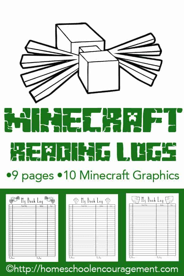 Sometimes kids need a little motivation. For those who love Minecraft, here are FREE reading logs and a list of Minecraft themed books to get them started.