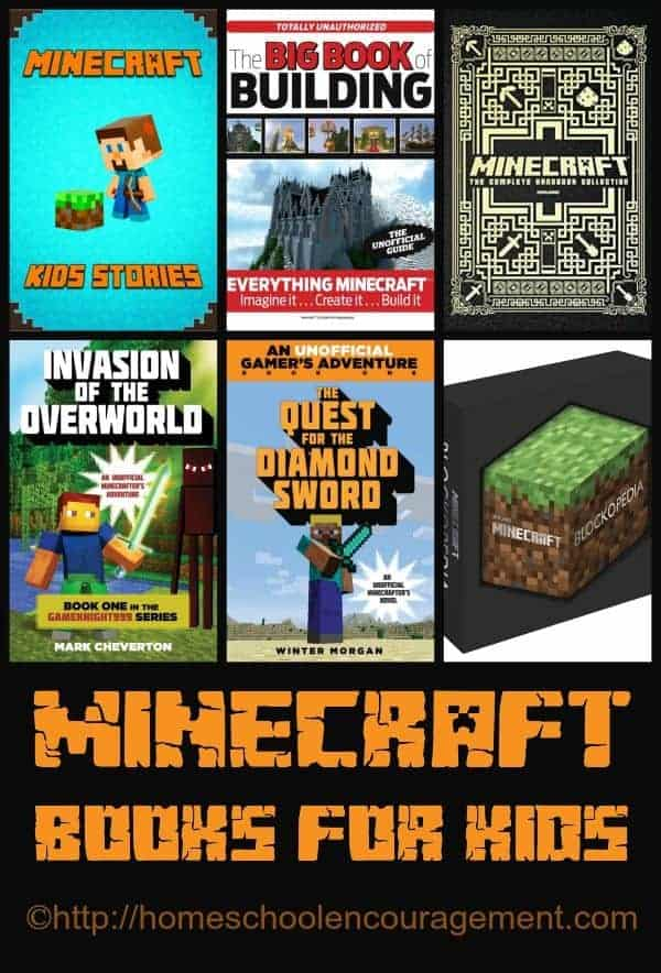 Minecraft books for kids and free printables - minecraft reading logs.