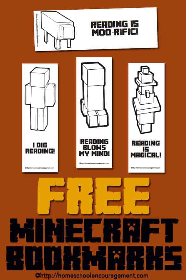 Do you need to motivate your kids reading? Do they love Minecraft? Take a look at these Minecraft themed bookmarks.