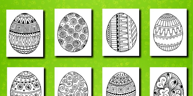 Free Printables: 21 Easter Egg Coloring Pages