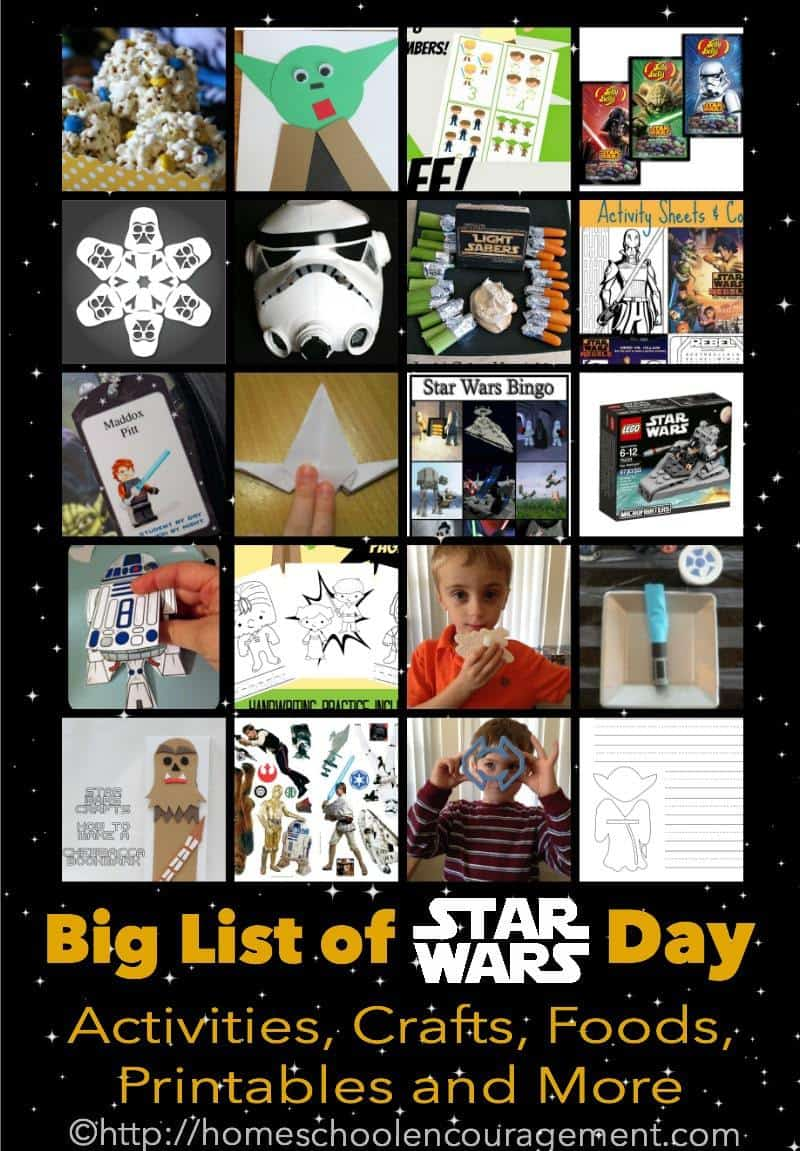 Star Wars Day Celebration in Homeschool - Fun Star Wars Activities