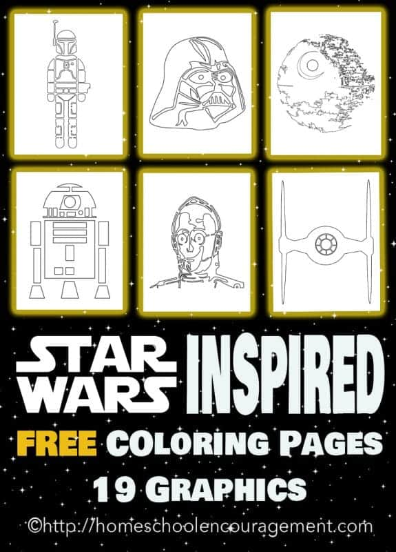 may the fourth be with you coloring pages May the 4th Be With You   Star Wars Inspired Coloring Pages may the fourth be with you coloring pages