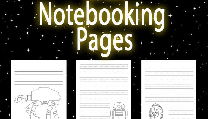 Learning with Star Wars Inspired Notebooking Pages