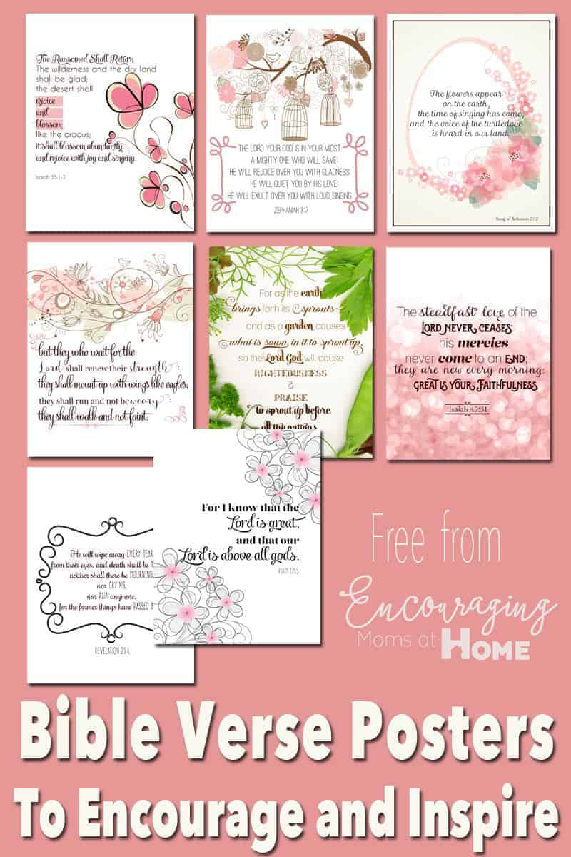 free printable bible verses to encourage and inspire homeschool moms