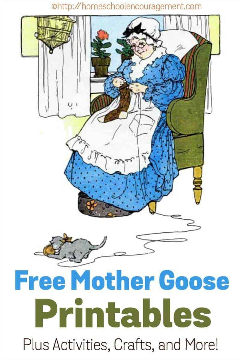 free mother goose printables plus crafts activities and more