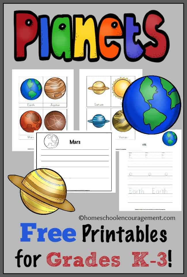 Simplicity image with planets printable