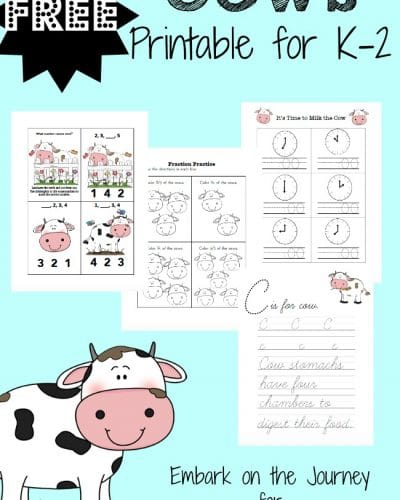 Celebrate Cow Appreciation Day with this free printable for K-2! | encouragingmomsathome.com