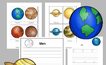 Free Solar System Printables for Grades K-3