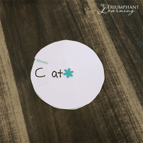 Make word wheels to practice word families. Free printable and tutorial.
