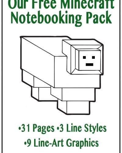Free Minecraft Notebooking Pages Printable Pack - learning with Minecraft. Homeschooling with Minecraft