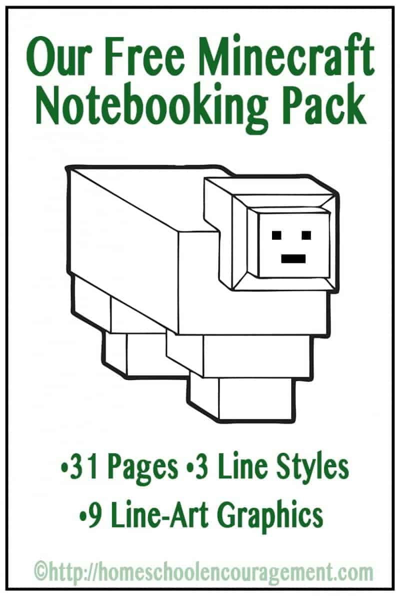 free minecraft notebooking printable pack