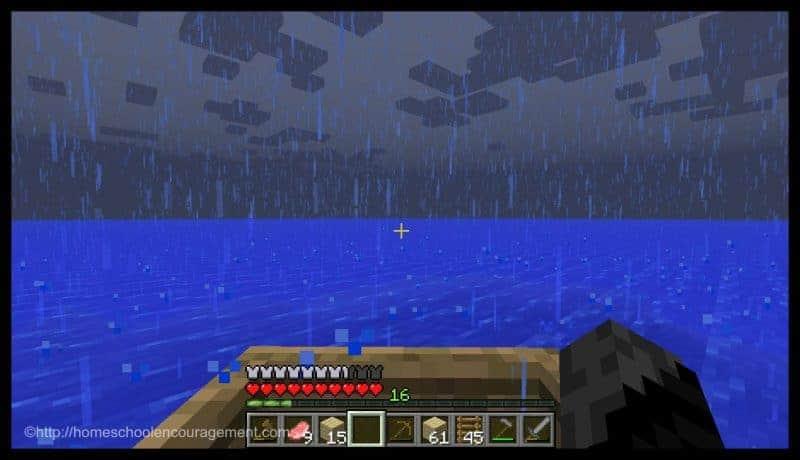 Minecraft - Rain on the Water