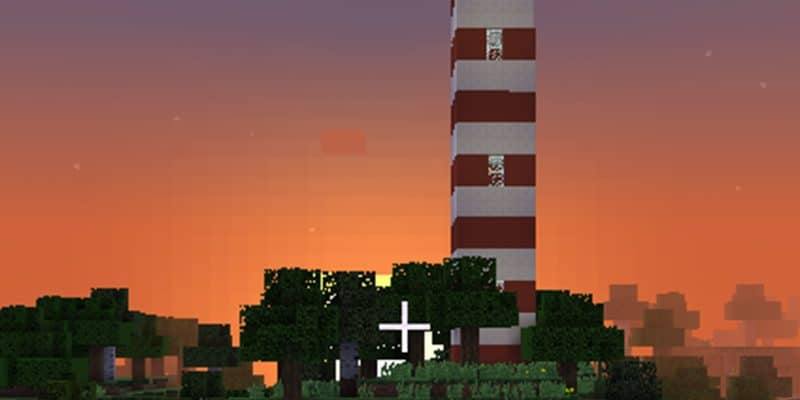 Studying Lighthouses with Minecraft