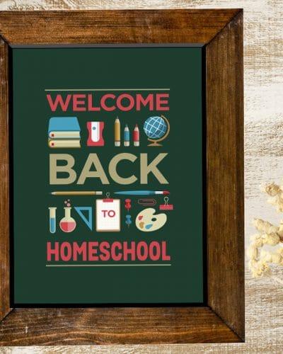 Back to Homeschool Printable Poster
