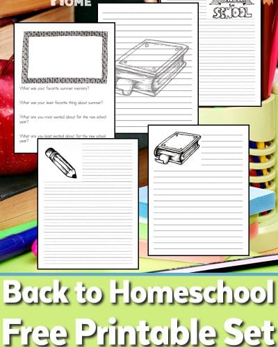 Back to Homeschool Printable Set for Homeschooling