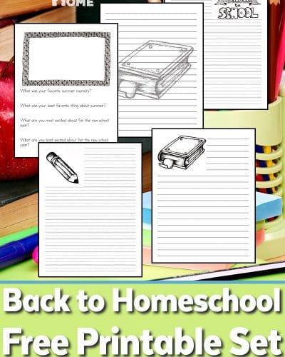 Back to Homeschool Printable Set for Homeschooling