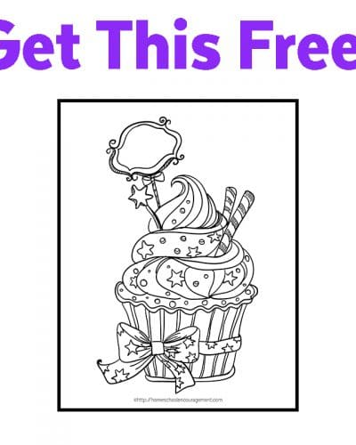 Free Birthday Cupcake Coloring Page