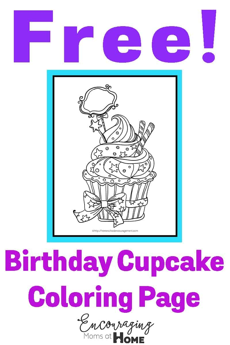 Celebrate Birthdays with this beautiful cupcake coloring page. Free.