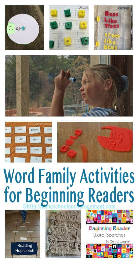 Do you have a struggling reader?  Building brain connections and proficiency in learning to read can be done as a family.  Here are 10 word family activities that we enjoyed while helping our beginning reader at the same time.