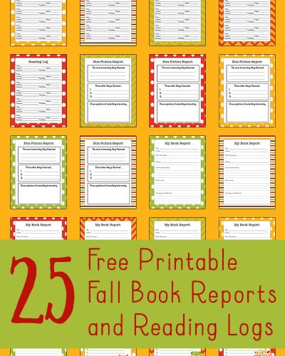 fall-reading-logs-and-book-reports