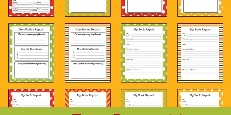 Printable Fall Reading Logs and Report Forms