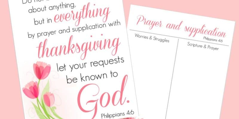 Worried? Time for Prayer – Free Printables to Encourage Moms
